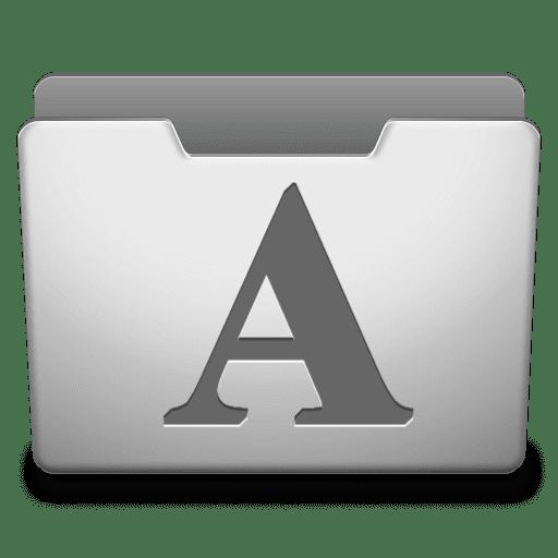 Aluminum Grey Fonts
