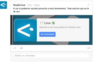 desdelinux comunidad google+