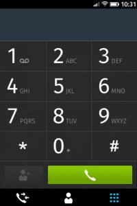 Aplicación de teléfono.