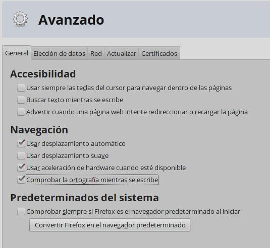 Cómo habilitar el corrector ortográfico en Firefox