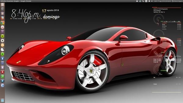 OS: Ubuntu 14.04 Iconos: Numix-Circle Conky Manager
