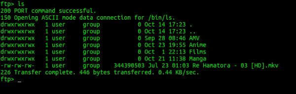 Conectarse y trabajar en un FTP mediante la terminal Ftp-ls-600x191
