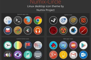 Iconos Numix Circle