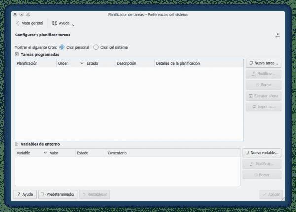 Planificador de Tareas de KDE