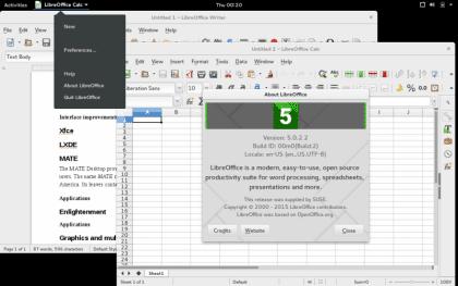 LibreOffice 5 en Gnome 3.16